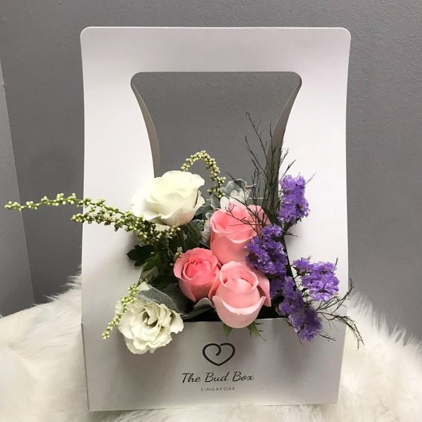 Fresh Pink Rose with Fillers Flower box for Valentine's Day