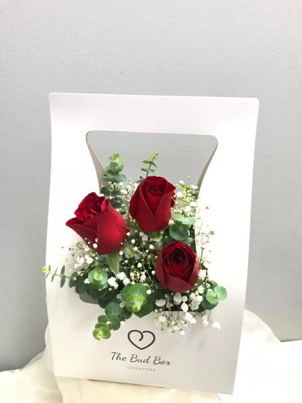 Fresh Red Rose with Fillers Flower box for Valentine's Day