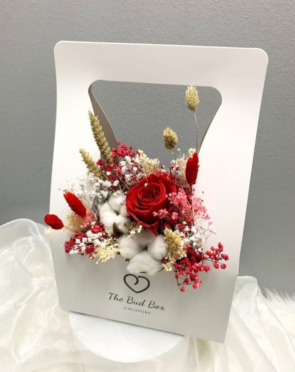 Preserved Red Rose Flower Box Valentine's Day