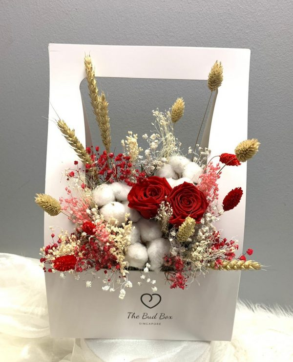 Preserved Red Rose Flower Box Valentine's Day