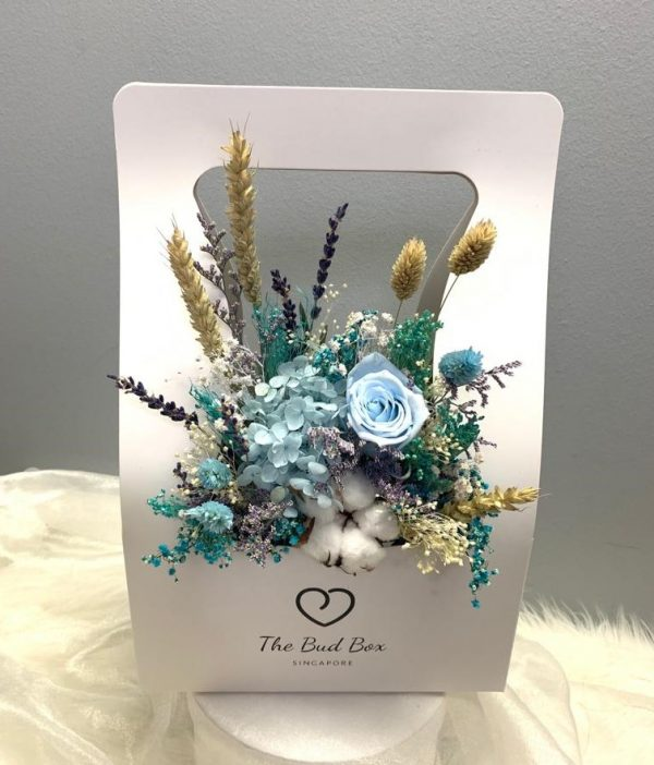 Preserved Blue Rose Flower Box Valentine's Day